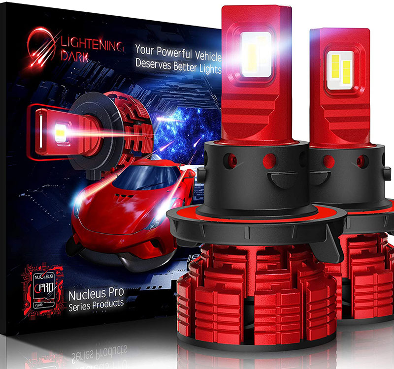 LIGHTENING DARK H13 led headlight bulb 16000 Lumens Nucleus Pro Adjustable Beam_01