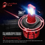 Adjustable Beam LIGHTENING DARK H4 9003 led headlight bulb 16000 Lumens Extremely Bright Nucleus Pro Conversion Kit 6500K Cool White