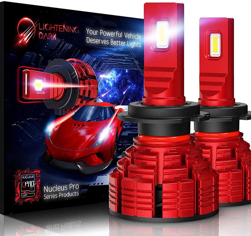 LIGHTENING DARK H7 led headlight bulb 16000 Lumens Nucleus Pro Adjustable Beam_01
